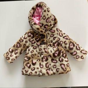 Cheetah Print Baby Girl Size 12 Months Fur Jacket